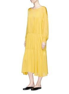 Ms MIN Batwing sleeve silk crepe dress
