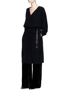 Ms MIN Belted crepe dress