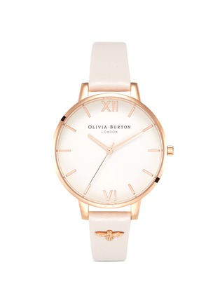 Main View - Click To Enlarge - Olivia Burton  - 3D Bee embellished strap 38mm watch