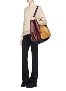 A-Esque 'Carry All' colourblock leather bag
