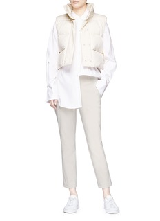 Ms MIN Cotton twill cropped down puffer gilet
