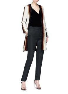 Lanvin Metallic stripe open front cardigan