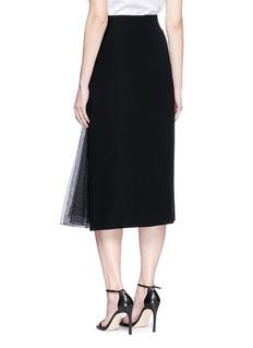 Lanvin Mesh panel crepe pencil skirt