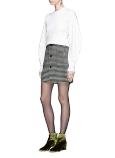 Tibi Cocoon sleeve wool blend rib knit sweater