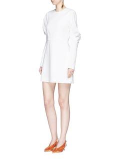 Tibi 'Florence' puff sleeve twill dress