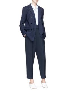 Tibi Detachable strap virgin wool blend pinstripe blazer
