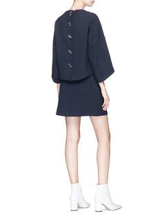 Tibi 'Mica' hook mock wrap suiting skirt