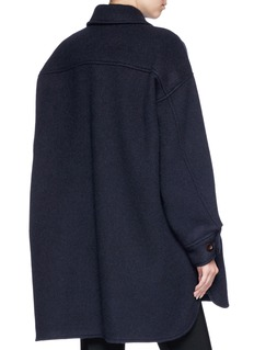 Chloé Oversized wool-mohair melton coat