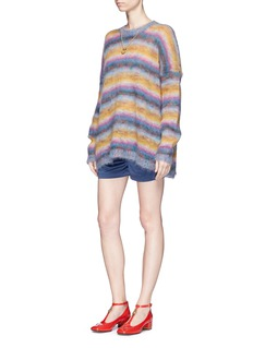 Chloé Stripe oversized mohair blend sweater