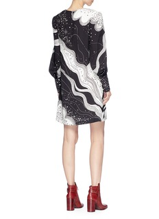 Chloé 'Dream Galaxy Face' print crepe mini dress