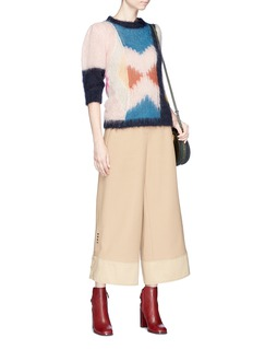 Chloé Colourblock brushed mohair blend knit sweater