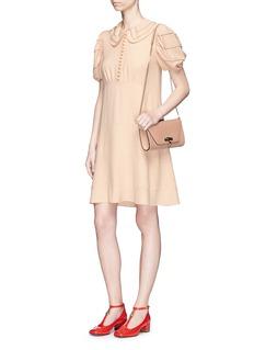 Chloé Puff shoulder cady babydoll dress