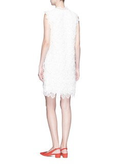 Chloé Pussybow eyelet embroidered silk organza dress