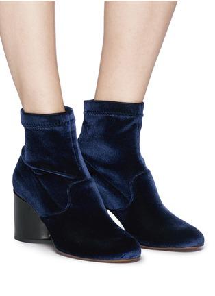 Figure View - Click To Enlarge - Robert Clergerie - 'Kosst' sculptural heel velvet ankle boots