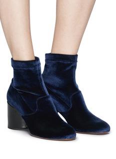 Robert Clergerie 'Kosst' sculptural heel velvet ankle boots