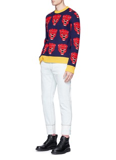 Gucci Tiger jacquard wool sweater