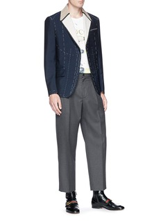Gucci 'Work In Progress' stitch mohair-wool blazer