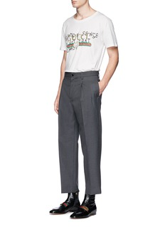 Gucci Pleated leg wool pants