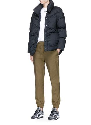 Figure View - Click To Enlarge - PHVLO - Detachable sleeve rainproof puffer jacket
