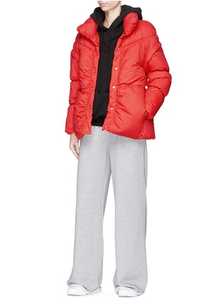 Figure View - Click To Enlarge - PHVLO - Detachable sleeve rainproof puffer jacket