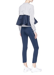 PHVLO Detachable ruffle zip back pouch sweatshirt