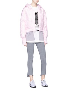 PHVLO Detachable hem cropped puffer jacket