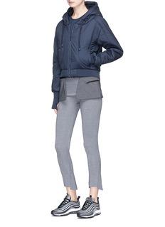 PHVLO Detachable hem cropped puffer jacket