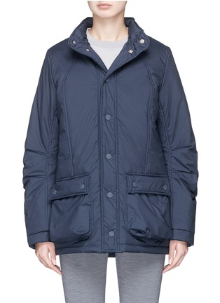 Main View - Click To Enlarge - PHVLO - Retractable hood rainproof puffer jacket