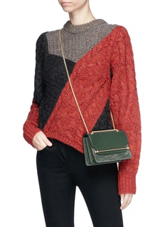 Strathberry 'East/West' mini leather flap suede crossbody bag