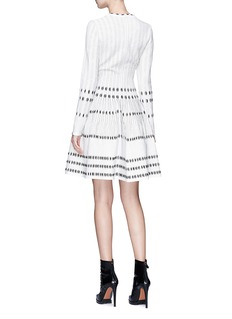 Alaïa Stripe jacquard knit flared dress