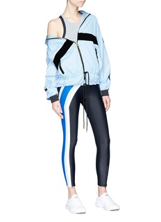 P.E Nation 'Set Position' stripe outseam cropped leggings