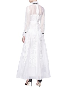 Temperley London 'Imperium' ribbon embroidered silk organza maxi dress