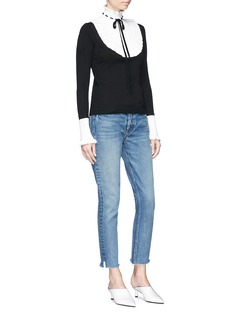 Temperley London 'Sigmund' colourblock pleated bib wool sweater