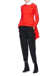Sonia Rykiel 'Aran' flared cable knit sweater