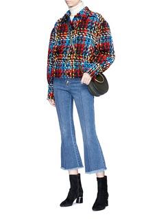 Sonia Rykiel Puff wool blend tweed coat
