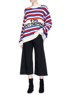 Sonia Rykiel '175 Saint Germain' slogan intarsia stripe oversized sweater