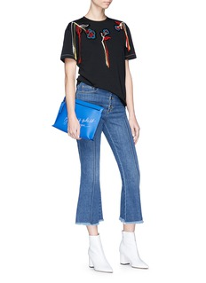Sonia Rykiel Bouclé patchwork embroidered T-shirt