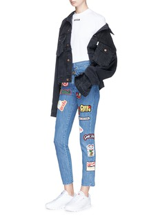 GCDS Graphic patch high rise jeans