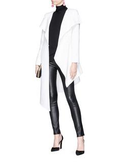Oscar de la Renta Asymmetric virgin wool-cashmere melton coat