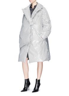 Dawei Stripe down puffer coat