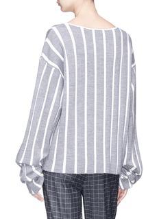 Dawei Stripe jacquard boat neck sweater