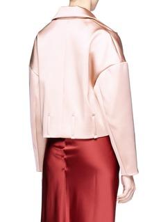 Dawei Oversized cropped taffeta blazer