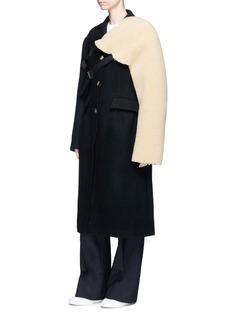 Shushu/Tong Belted faux shearling sleeve