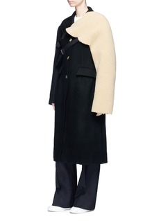 Shushu/Tong Oversized melton long coat