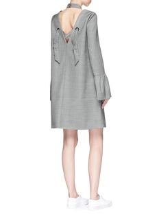 Shushu/Tong Open back halterneck wool houndstooth dress