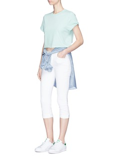 Topshop Rolled edge cropped T-shirt