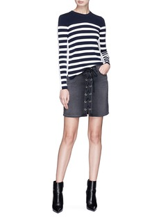 rag & bone 'Cecilee' stripe panel sweater