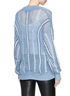 rag & bone 'Lucie' oversized mixed knit sweater