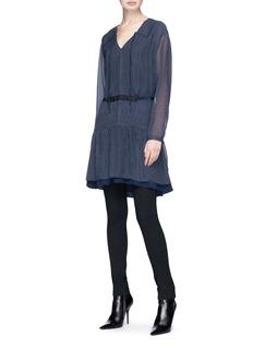 rag & bone 'Blake' waist tie pinstripe dress
