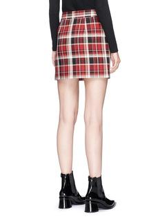 rag & bone 'Leah' check plaid cotton twill mini skirt